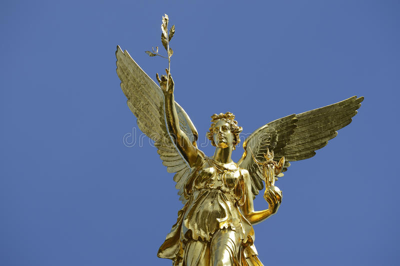 The Angel Of Peace In Munich In Bavaria Royalty Free Stock Photo