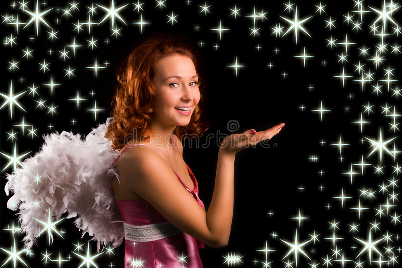 Angel In Pink Royalty Free Stock Images
