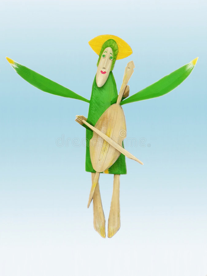 Angel Playing Royalty Free Stock Photography
