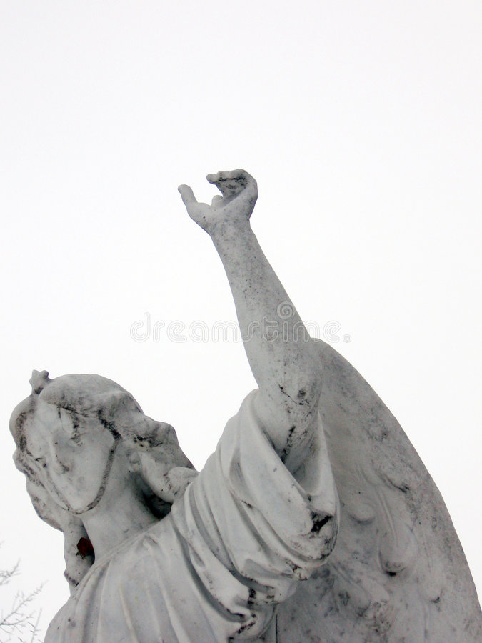 Download Angel Pointing Towards Heaven Stock Image - Image of statue, grave: 463243