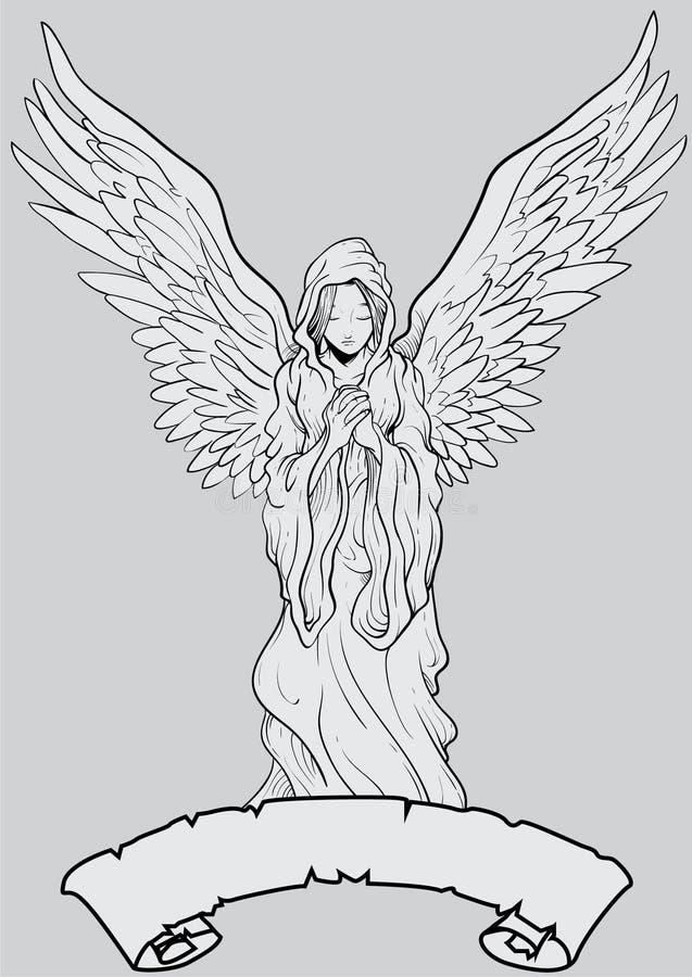 Angel Prayer ilustração royalty free