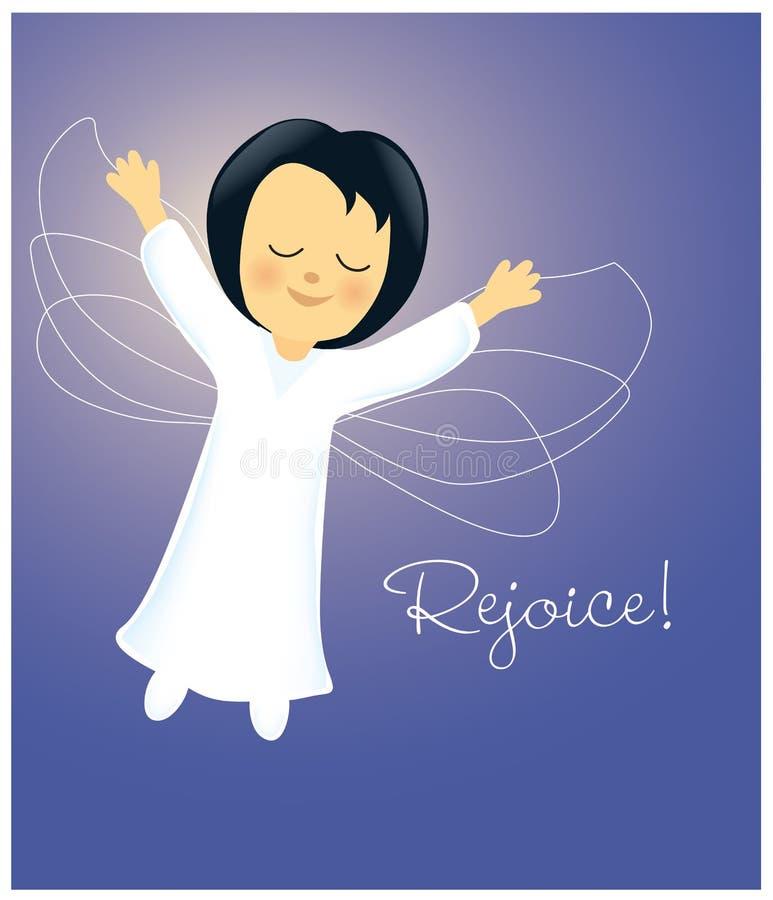 Angel Rejoicing ilustração stock