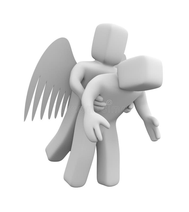 Download Angel saves man stock illustration. Image of decision - 24733092