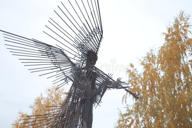 Angel Sculpture en la ciudad de Chernóbil del artista ucraniano Anatoly Haidamaka Chernobyl Exclusion Zone, Ucrania, octubre de 2 imagenes de archivo