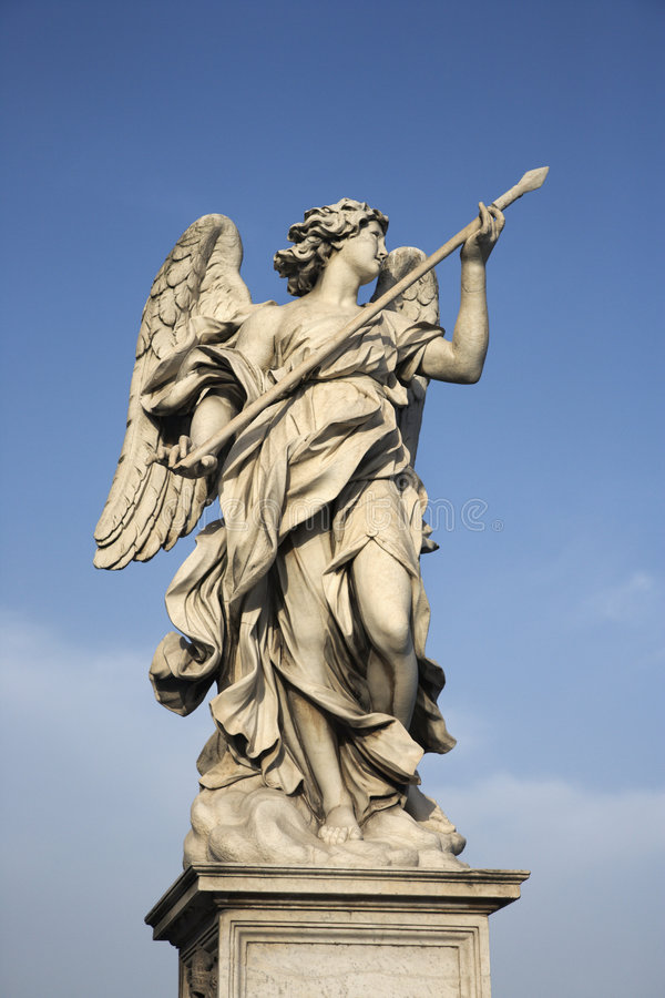 Angel sculpture in Rome, Italy. royalty free stock image