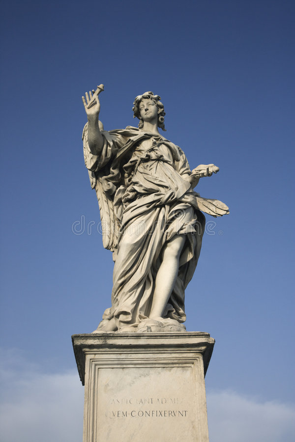 Angel sculpture in Rome, Italy. royalty free stock photography