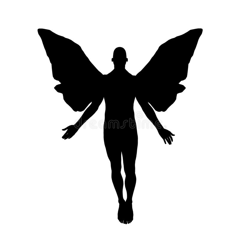 Angel Silhouette stock photos