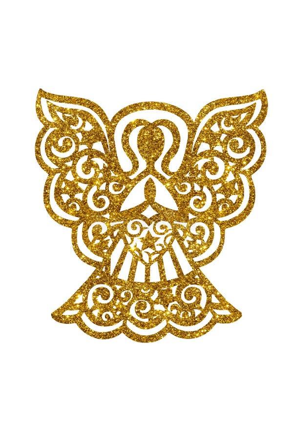 Angel silhouette royalty-vrije stock foto
