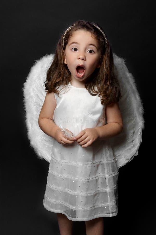 Angel singing carols or worship royalty free stock photos