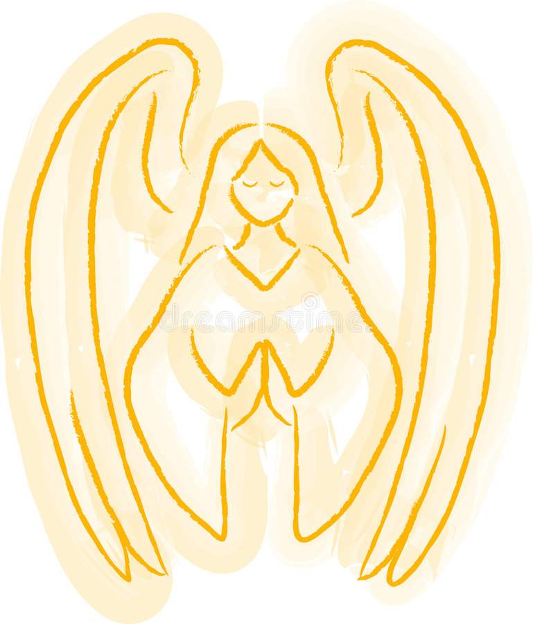 Angel Sketch Royalty Free Stock Photography