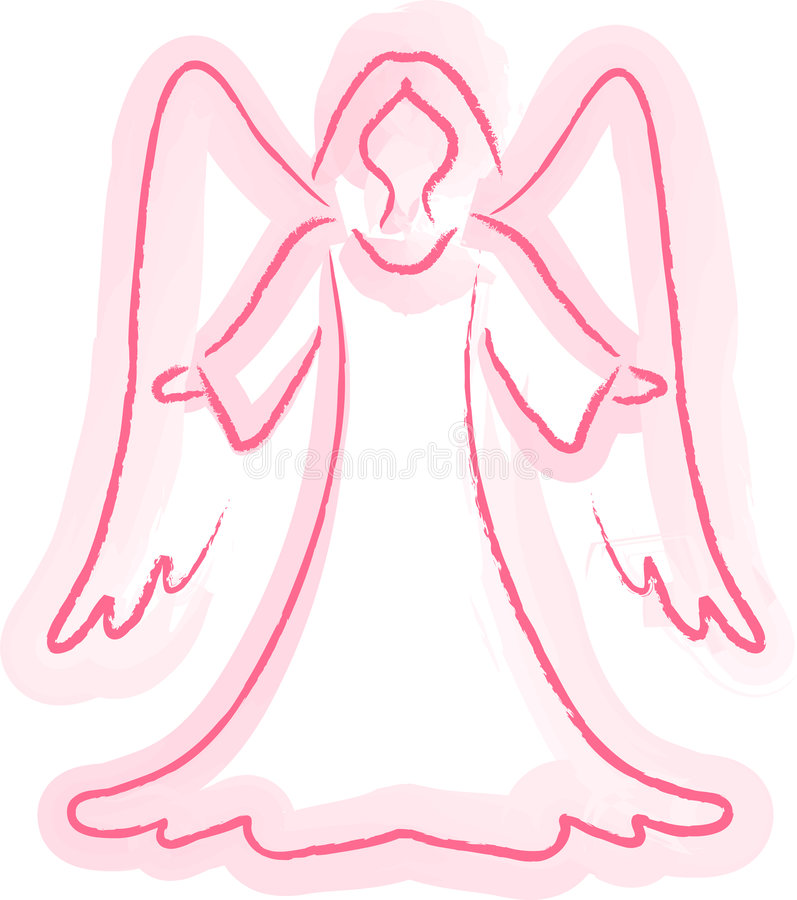Download Angel Sketch stock illustration. Image of watercolor, illustrated - 6651938