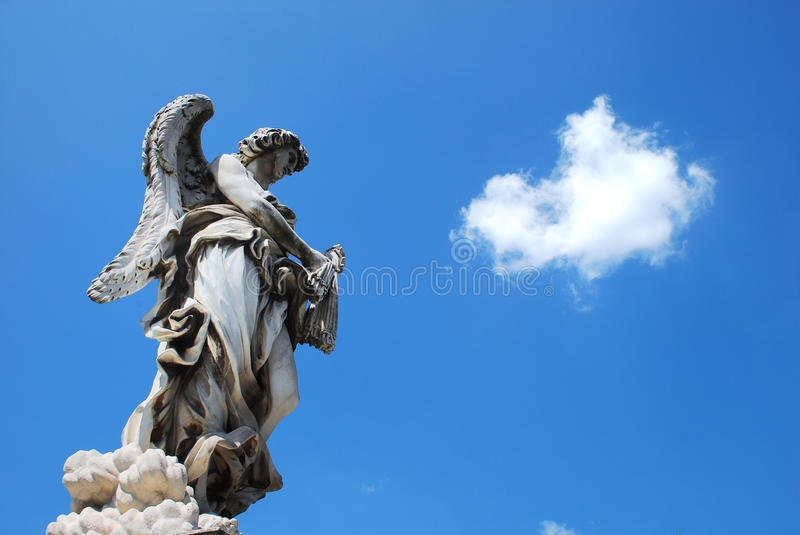 Angel in the sky royalty free stock image