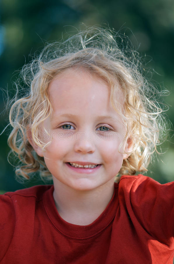 Download Angel smile stock image. Image of pretty, curly, childhood - 19321391