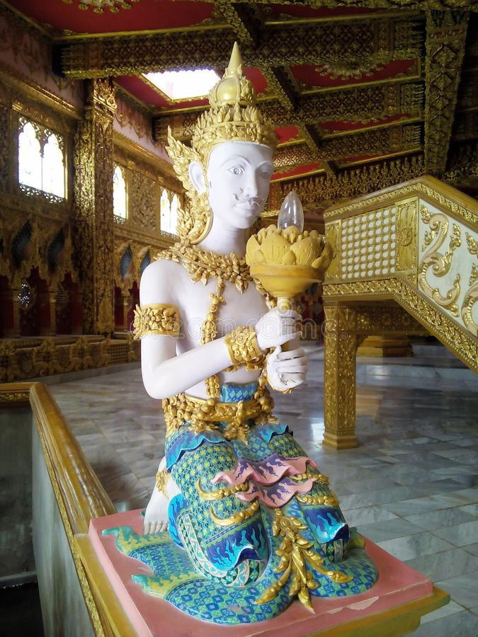 Angel of stairs Wat Chai Mongkhon. Tourism Holy Places faith anchor relics Nature respect worship the Wednesday location Industry Optical Sculpture architecture stock images