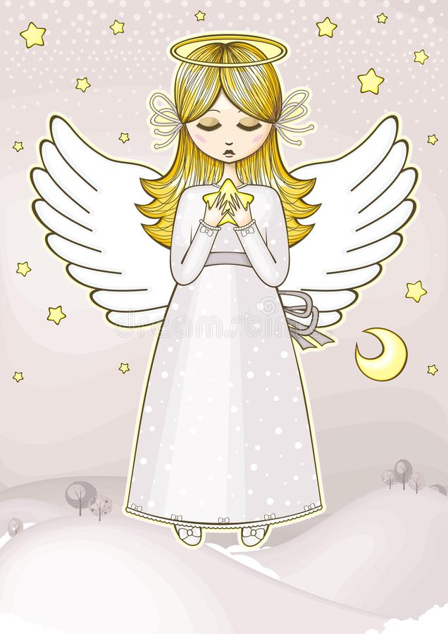 Angel With A Star Royalty Free Stock Photo