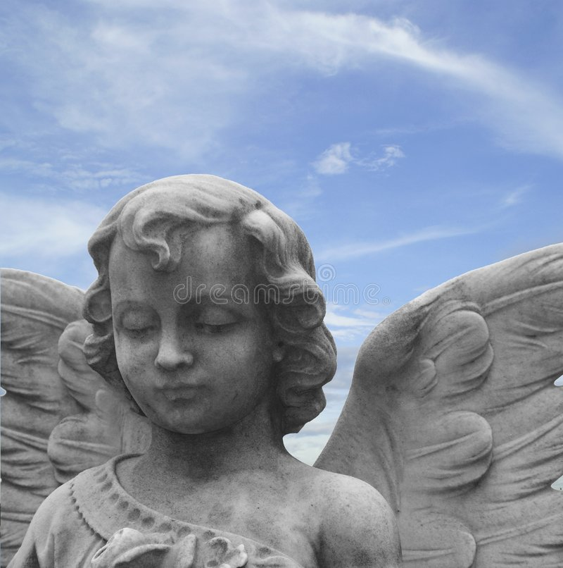 Angel statue stock image