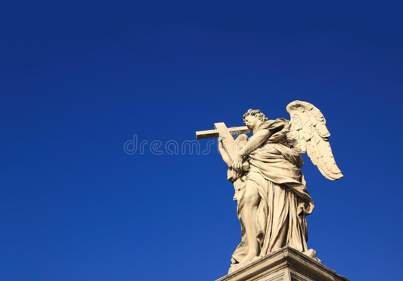 Download Angel Statue stock photo. Image of baroque, ponte, italy - 18186758