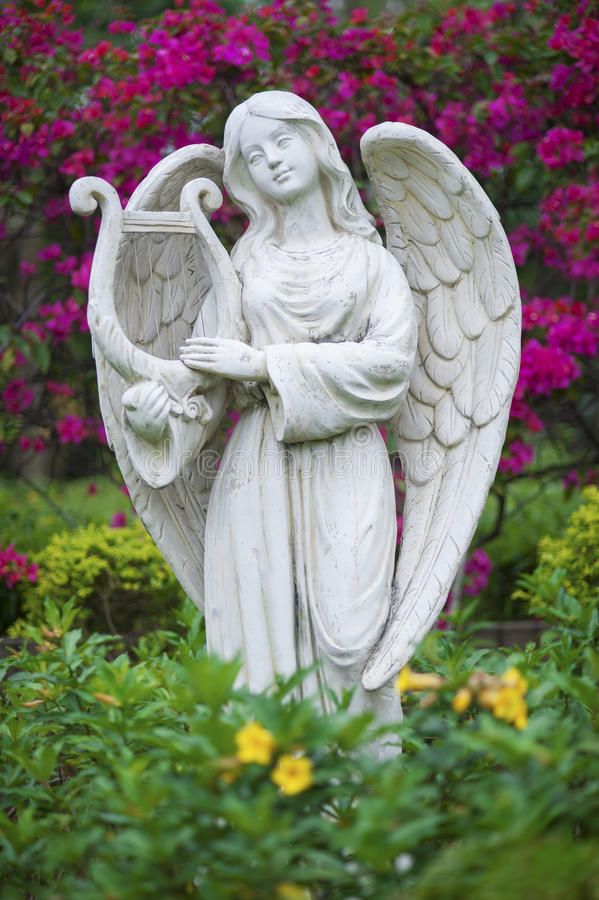 Download Angel statue stock photo. Image of harp, decoration, antique - 39514974
