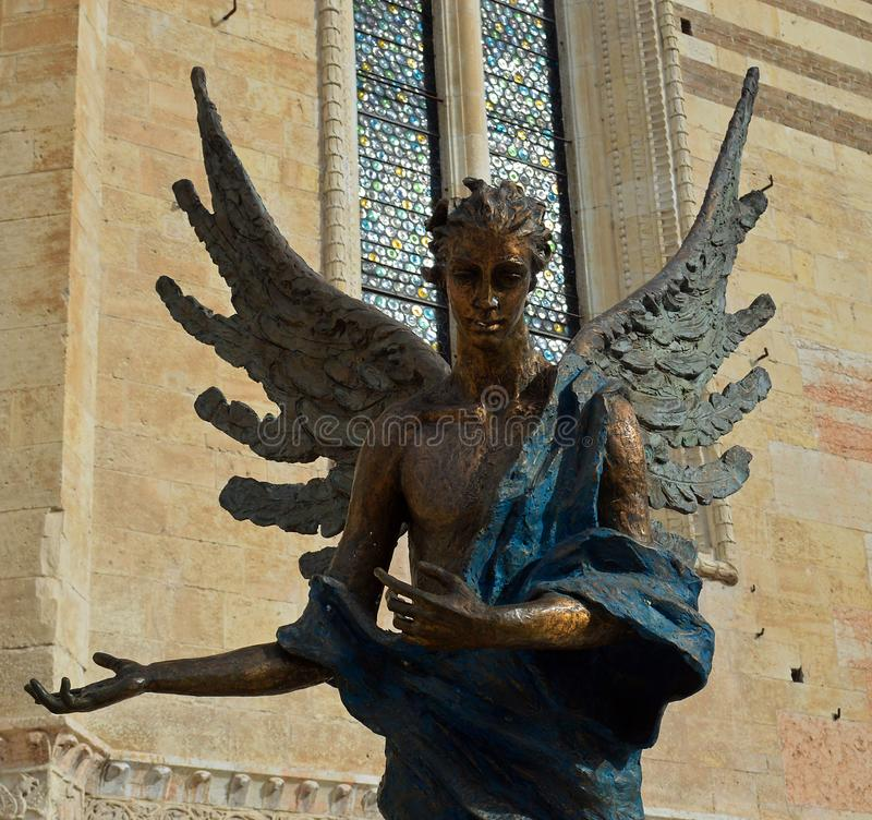 Angel Statue 2 Verona Cathedral, Verona Italy fotografía de archivo