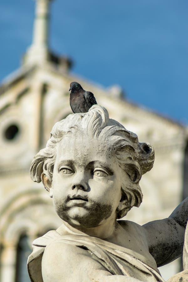Angel Statue vieux image libre de droits