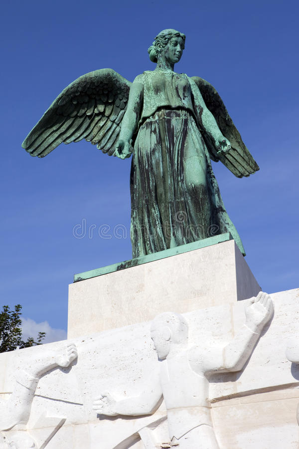 Angel Statue On The World War 1 Maritime Monument Royalty Free Stock Images