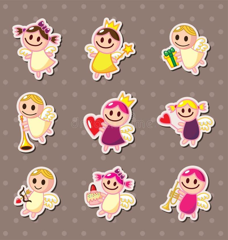 Angel stickers. Cartoon vector illustration royalty free illustration