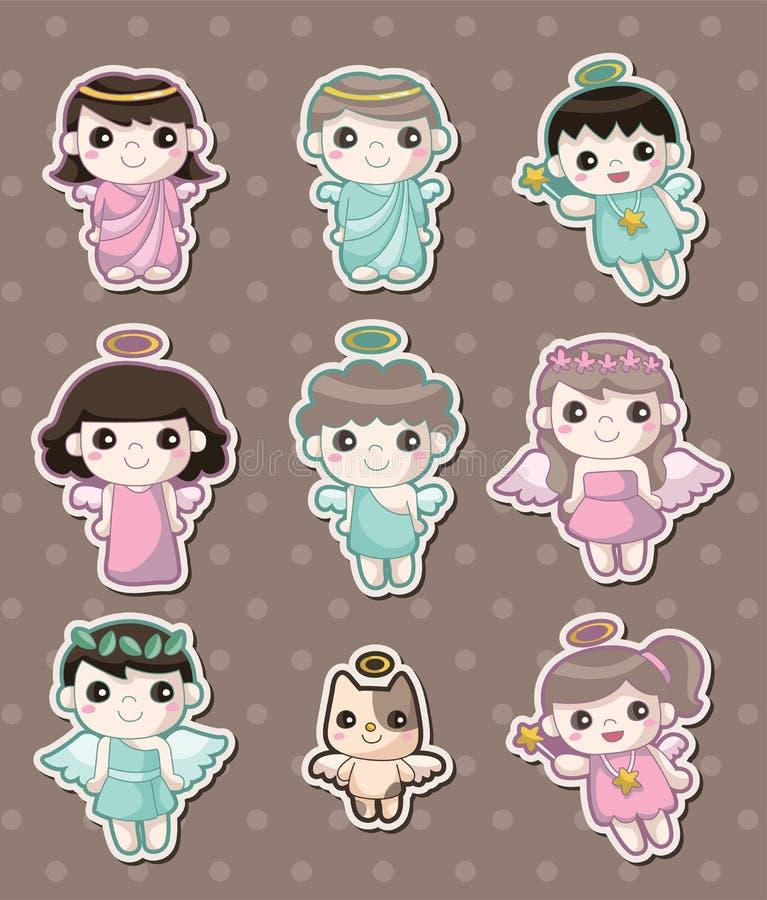 Angel stickers. Cute cartoon vector illusttration stock illustration