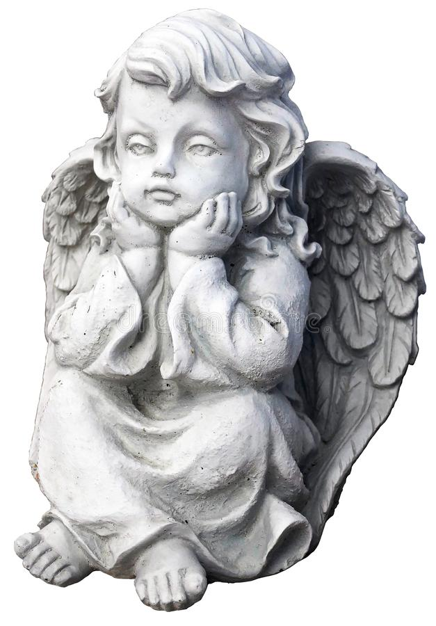 Angel, Stone Carving, Classical Sculpture, Figurine royalty free stock images