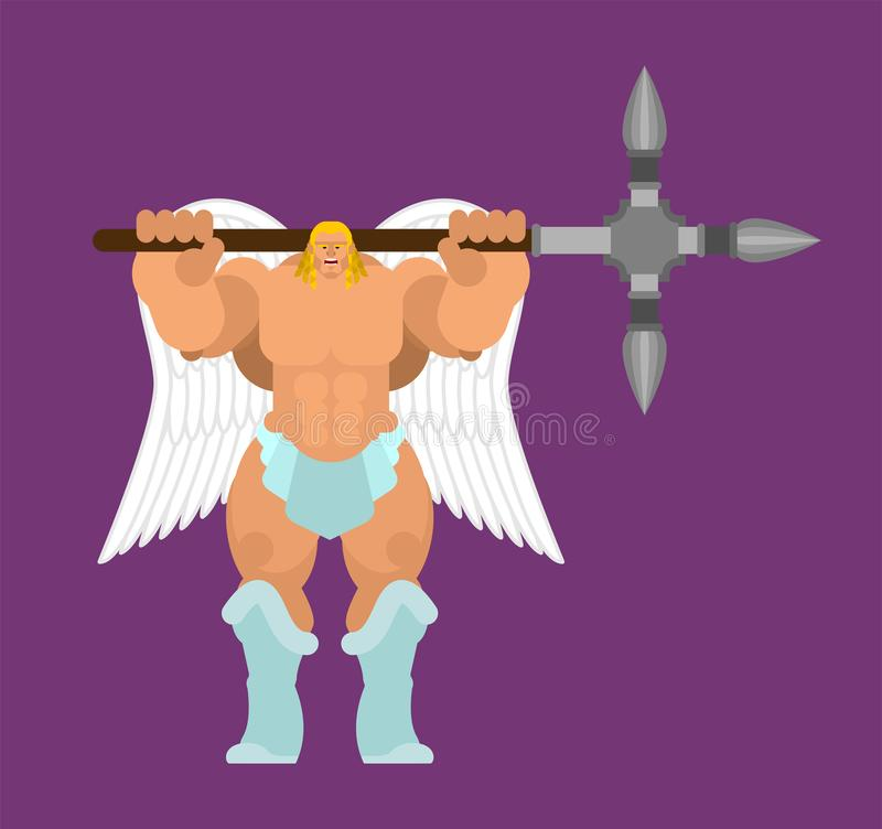 Angel Strong. Powerful archangel. Power of god. Vector vector illustration