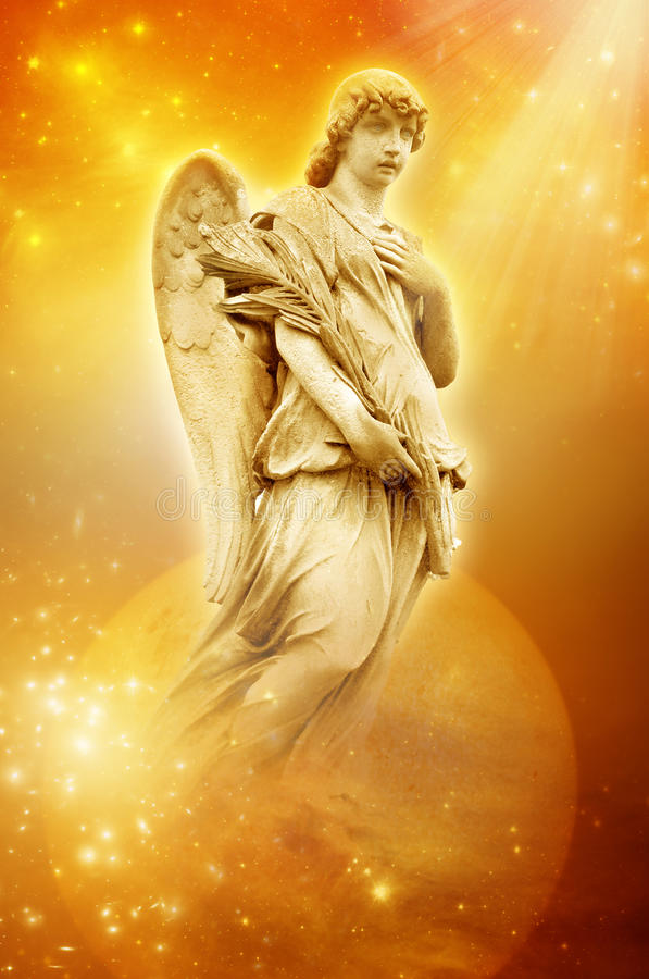 Download Angel of Sun stock image. Image of universe, archangel - 20159609