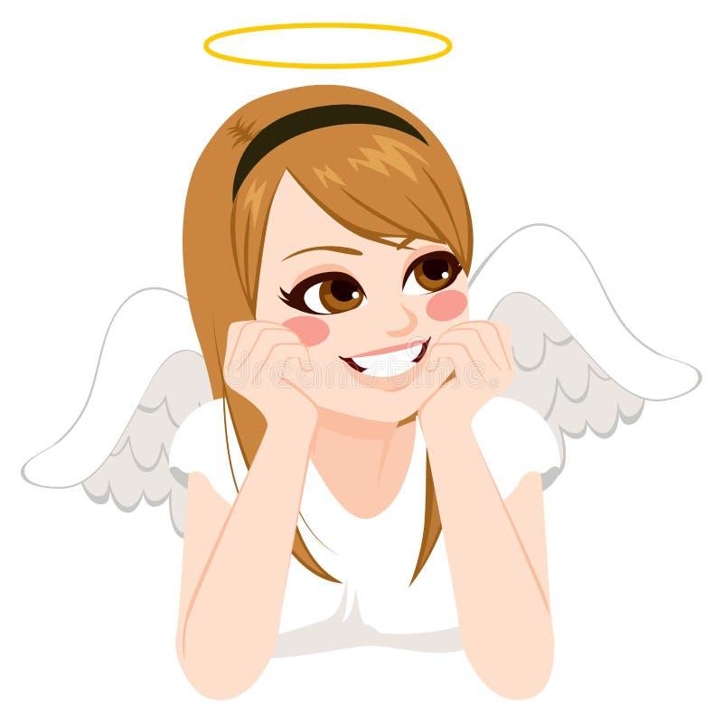 Angel Teenage Girl ilustração do vetor