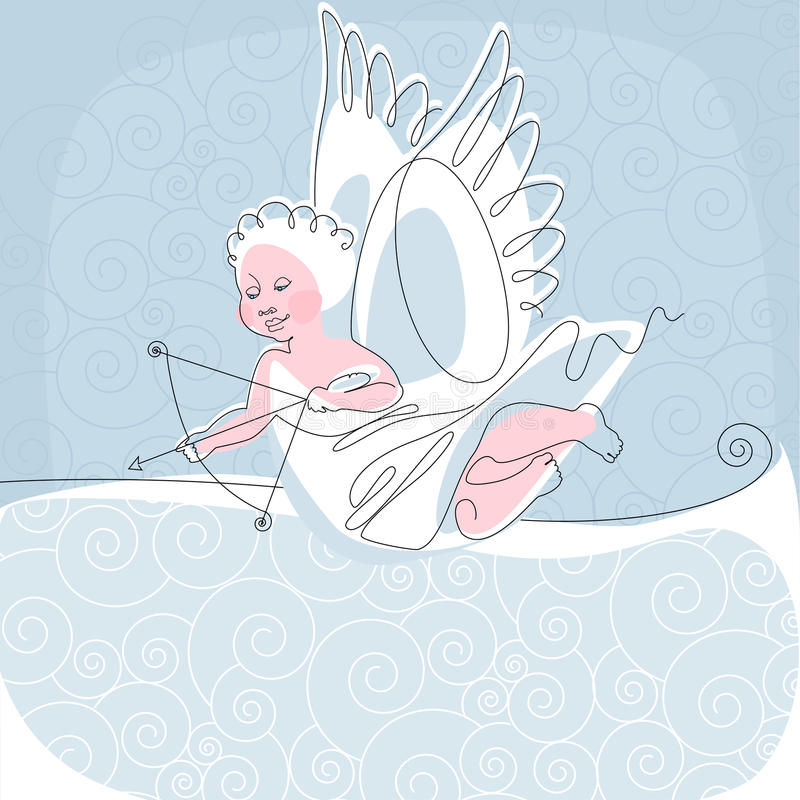 Angel. thread 2. Place for your tex. similar to the portfolio royalty free illustration