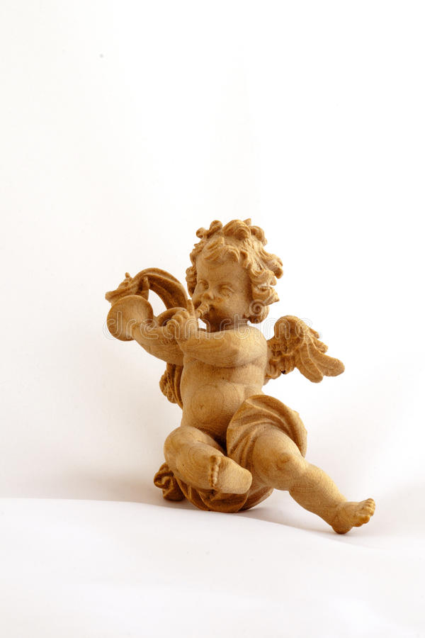 Angel with trumpet royalty free stock photography