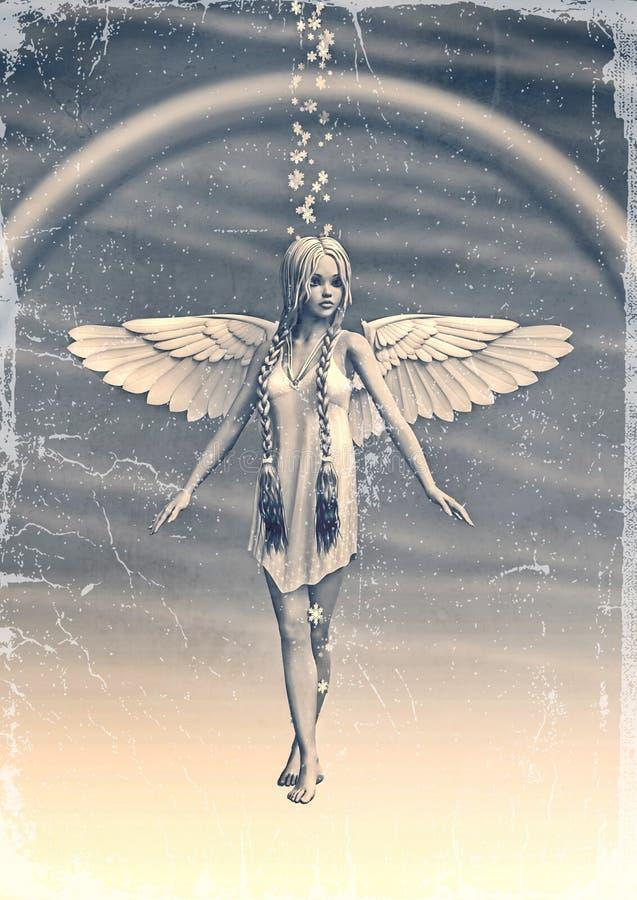 Angel under the Rainbow royalty free illustration
