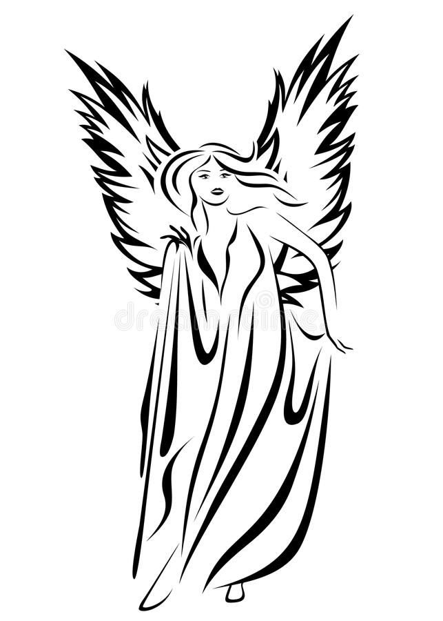 Download Angel vector stock vector. Image of fairy, hair, christian - 19541755