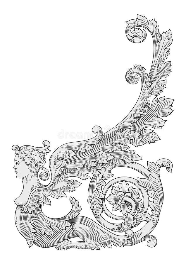 Download Angel stock vector. Illustration of angel, floral, tree - 32484004