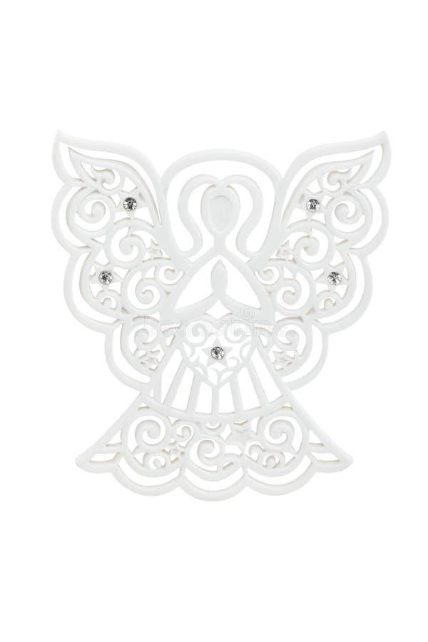 Angel-versiering met swarovsky-kristallen stock afbeelding