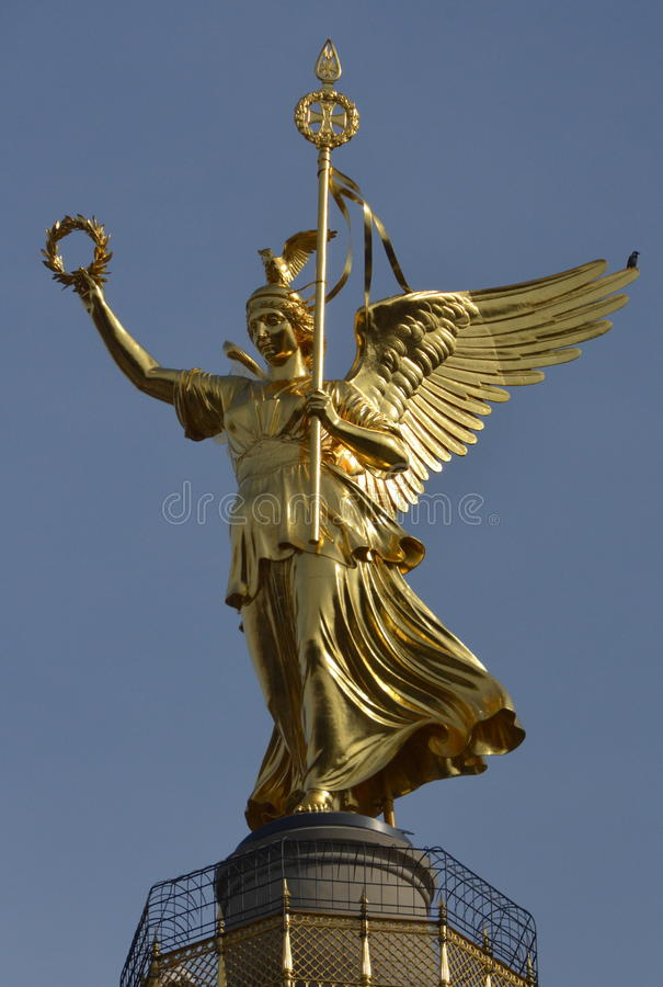 Angel of victory (Berlin) royalty free stock photography