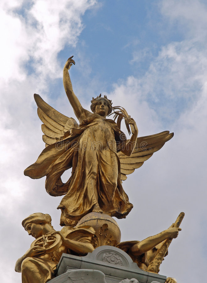 Angel Of Victory Statue Stock Photo