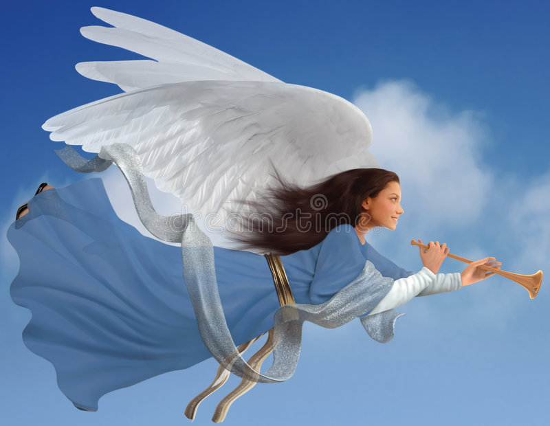 Angel on white royalty free stock photos