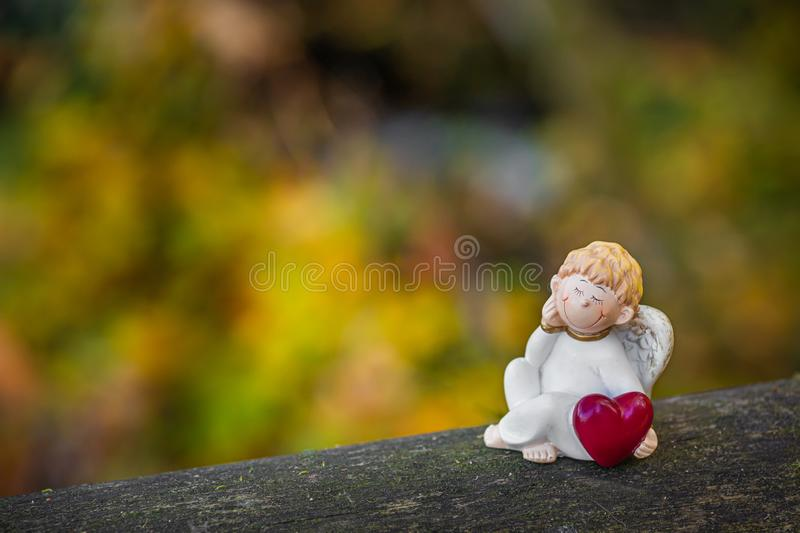 The angel keeping the love. royalty free stock photography