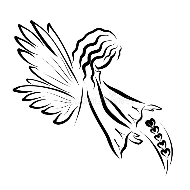 The angel who guards the ripening ear of wheat.  royalty free illustration
