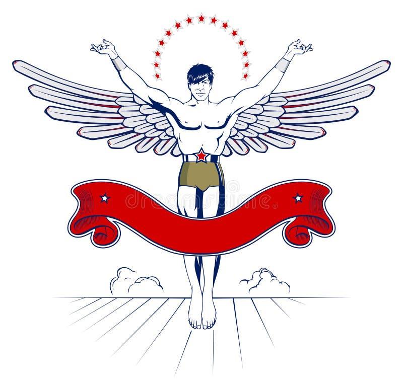 Download Angel wing man emblem stock vector. Image of medical - 21000349
