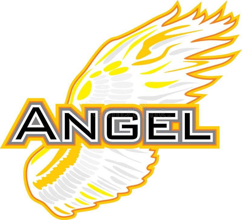 Angel Wing Teken voor ontwerp stock illustratie