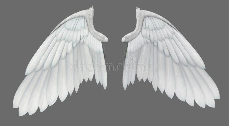Angel Wings. A pair of angel wings - 3D render vector illustration