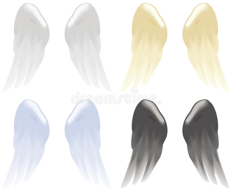 Download Angel wings stock vector. Image of light, religion, flight - 25346515