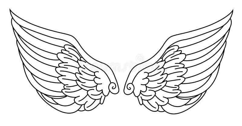 Angel Wings ilustração royalty free