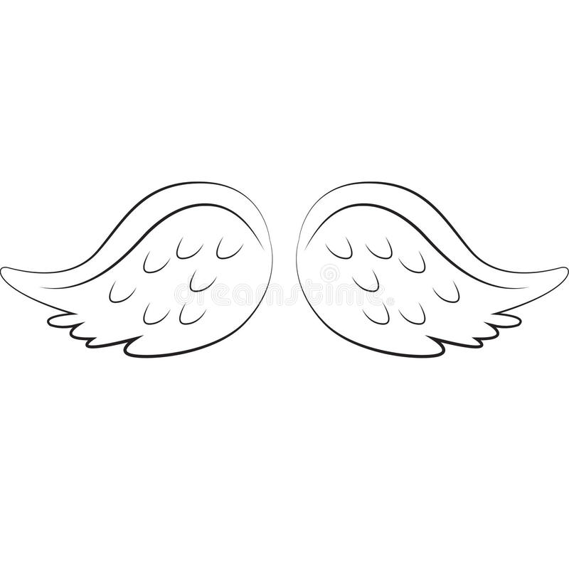 Angel Wings royalty-vrije illustratie