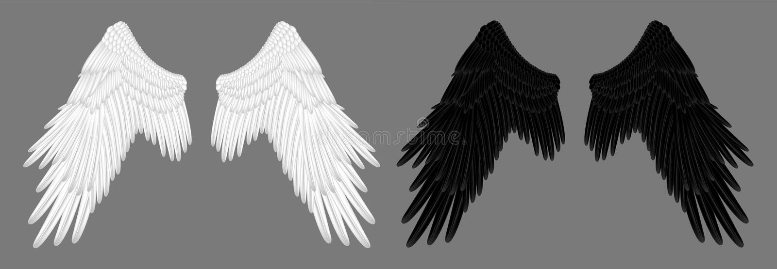 Angel Wings royaltyfri illustrationer