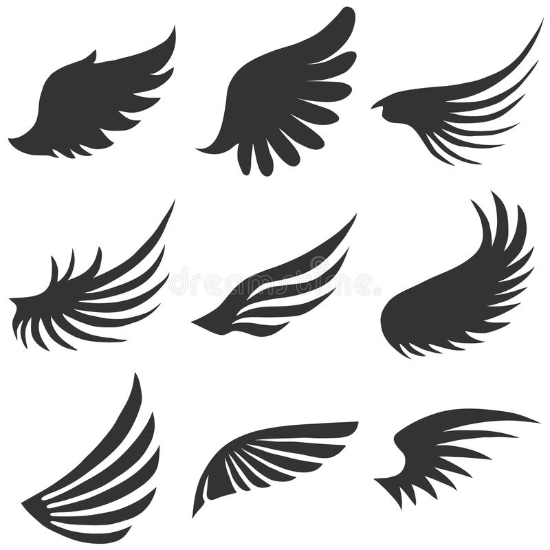 Angel Wings stock illustrationer